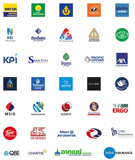 เลือกบริษัทประกันชั้นนำได้มากกว่า 30+ บริษัท